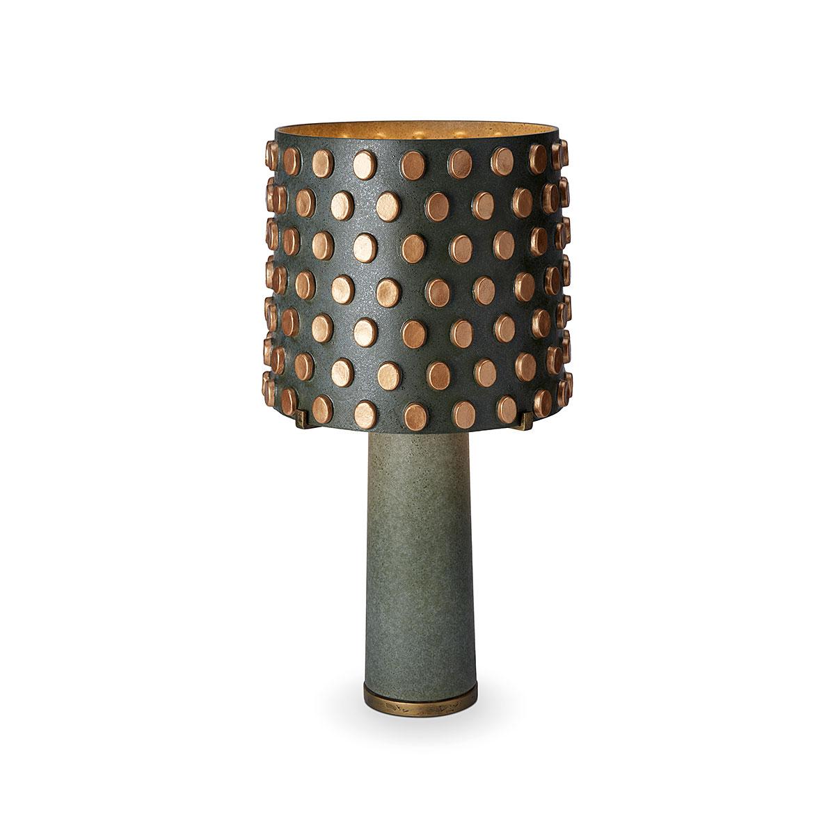 L'Objet I Pakal Table Lamp Green Gold