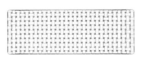 Bossa Nova Rektanglulær tallerken 42x15 cm