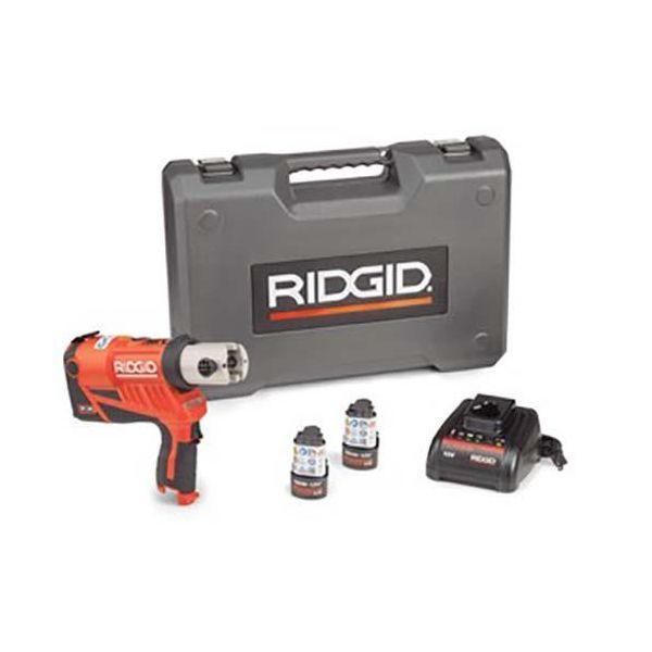 Ridgid RP 240 Puristustyökalu mukana akut, laturi ja laukku