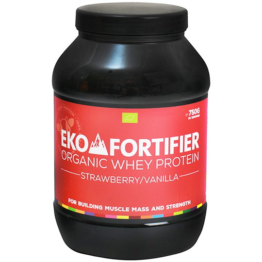 """Proteinpulver """"Strawberry & Vanilla"""" 750g - 45% rabatt"""