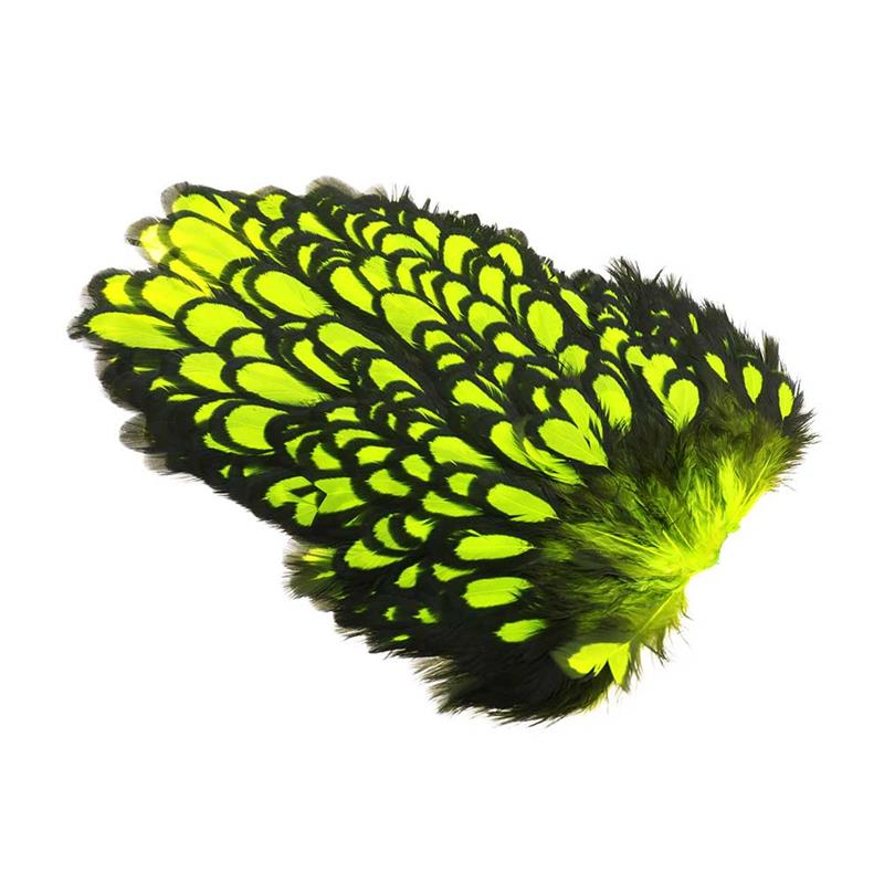 Whiting American Hen Saddle Fl. Yellow Chartreuse