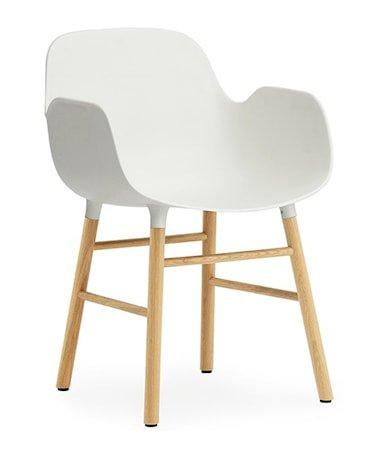 Form Stol med armlene eik - hvit