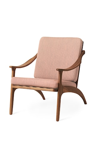 Lean Back Lounge Chair Pale rose Teak
