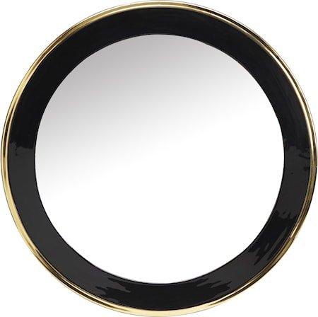 Blanka speil Svart/gull 71cm