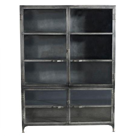 Iron glass cabinet vitrinskåp