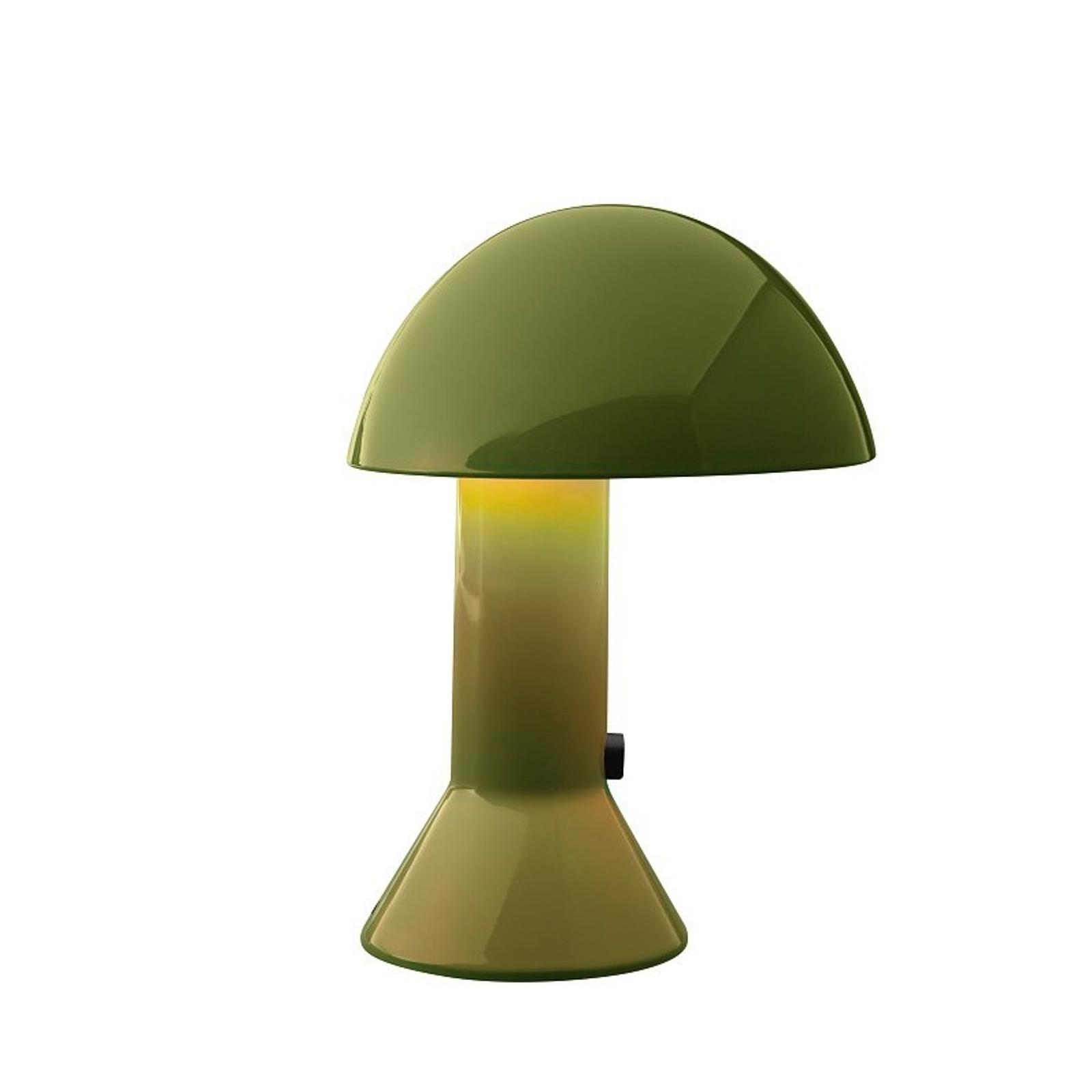 Martinelli Luce Elmetto -pöytävalaisin, vihreä