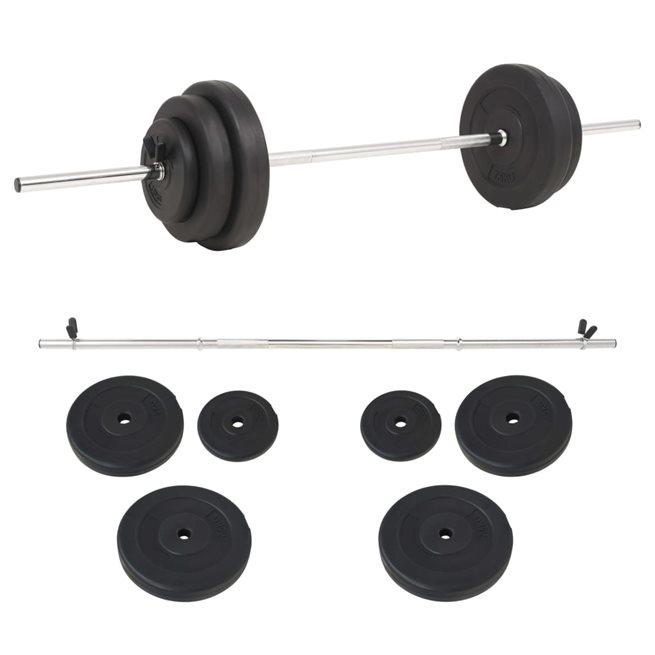 vidaXL Skivstång set 30 kg