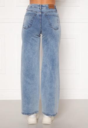 Happy Holly Peggy wide leg jeans Light denim 42R