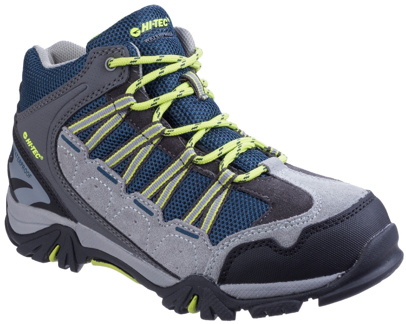 Hi-Tec Unisex Forza Mid Waterproof Hiking Boot Various Colours 25488 - Cool Grey/Majolica/Limoncello 10