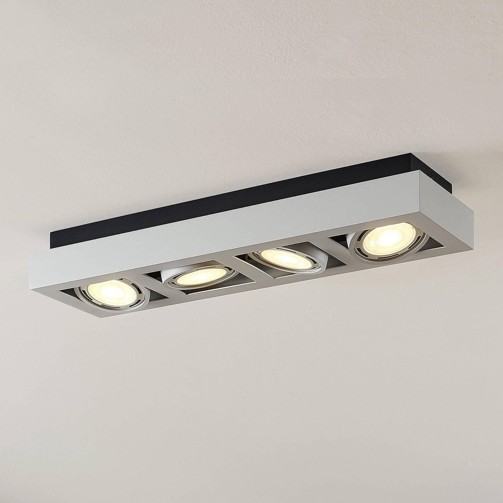 LED-takspot Ronka, 4 lyskilder, lang, hvit