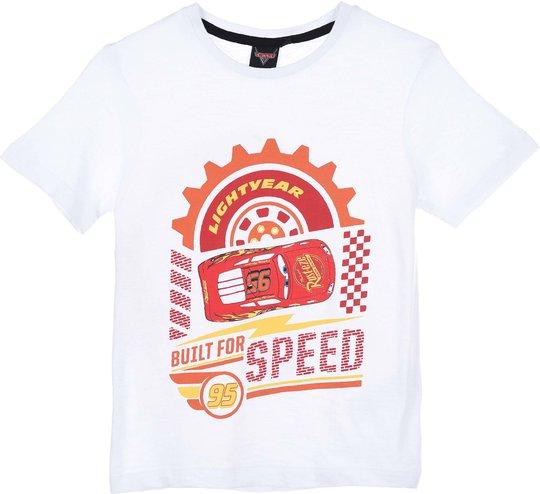 Disney Cars T-Shirt, White, 3 År