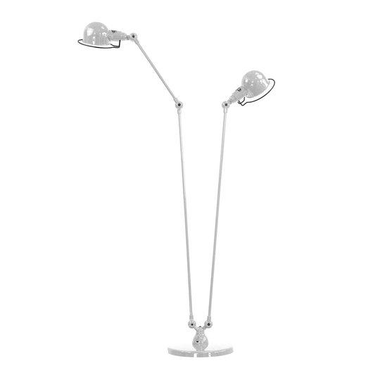 Jieldé Signal SI8380 gulvlampe, 2 lys sølvgrå