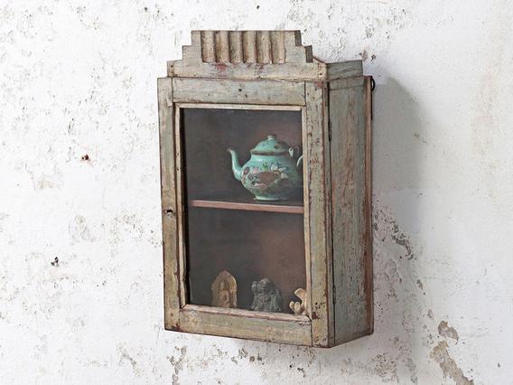 Rustic Kitchen Wall Cabinet Cream