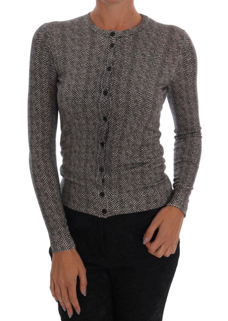 Dolce & Gabbana Women's Wool Top Cardigan Gray TSH1533 - IT38|XS