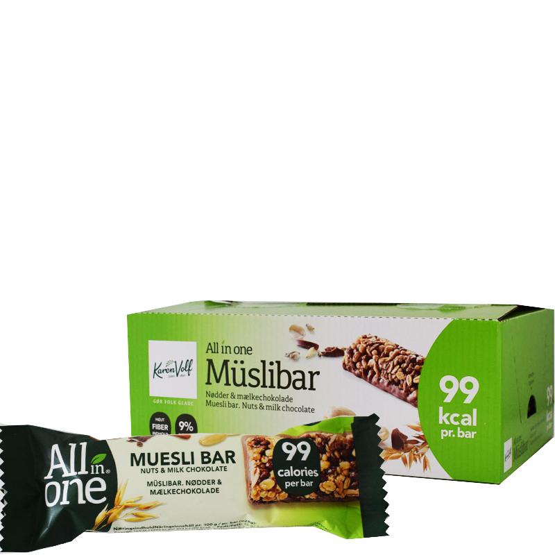 Müslibars Mjölkchoklaad & Nötter 24-pack - 60% rabatt