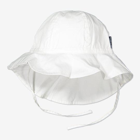 Solhatt med UV-beskyttelse hvit