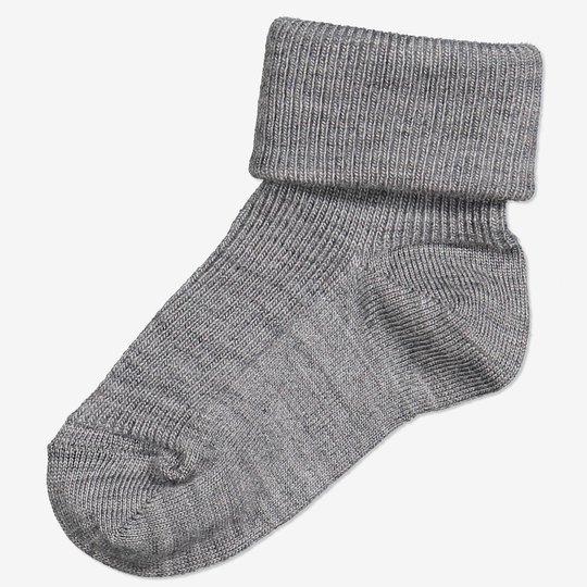 Merinoull sokker baby gråmelange