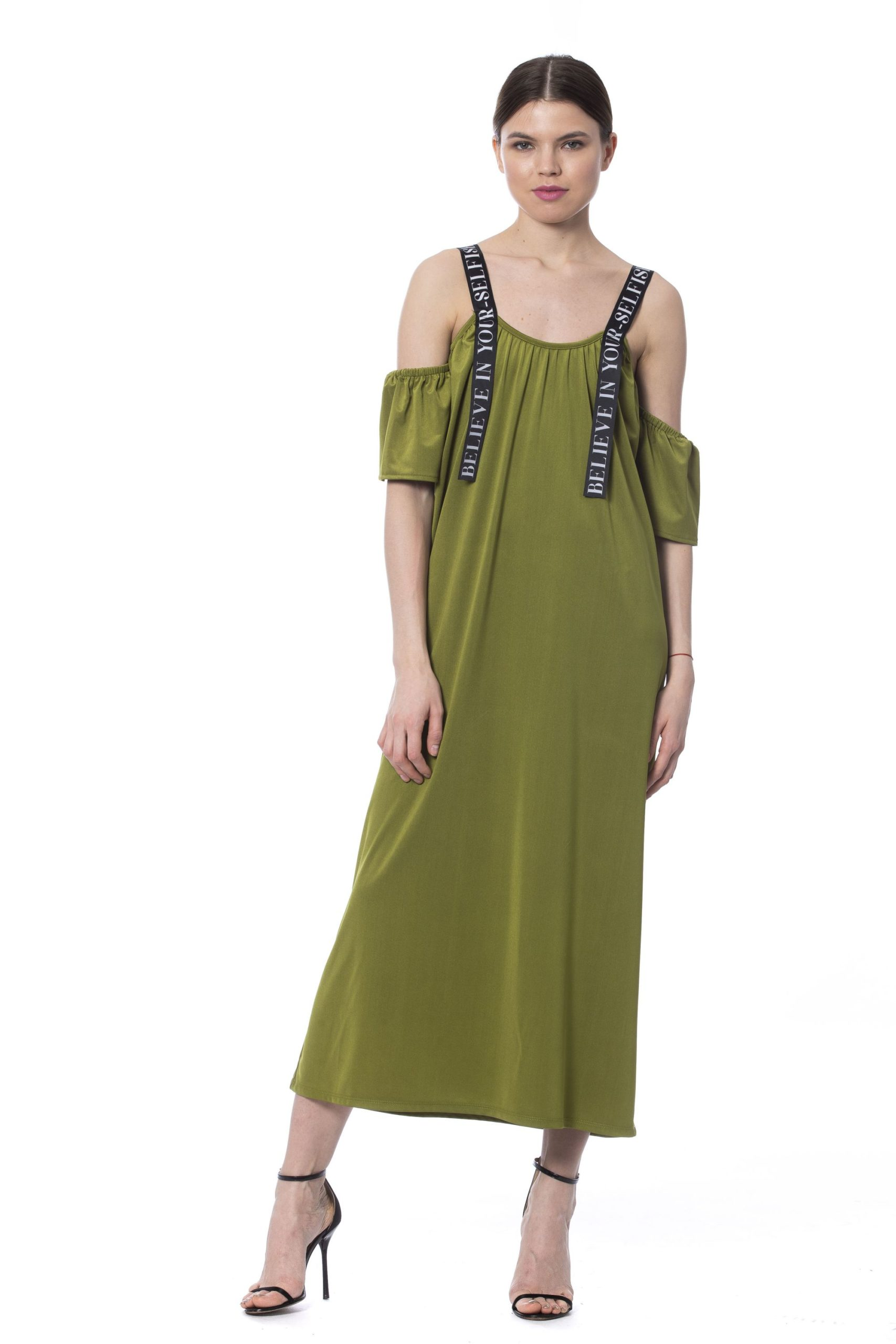 Silvian Heach Women's LS Dress Army SI1020293 - XS