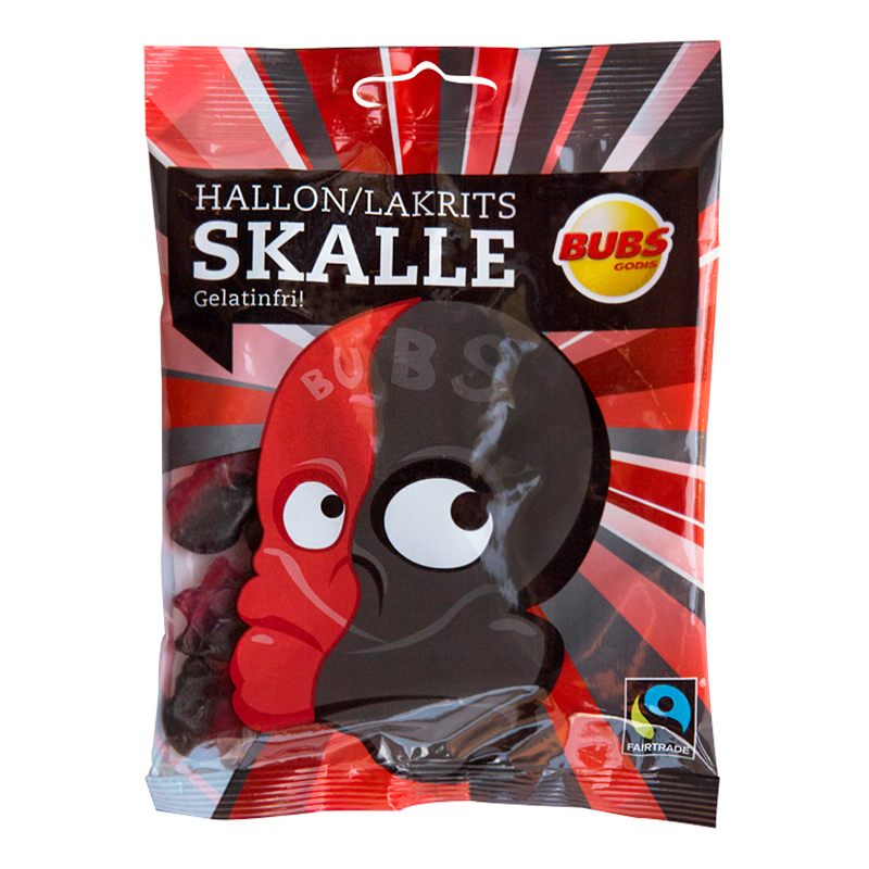 Hallonlakrits Skallar - 1-pack