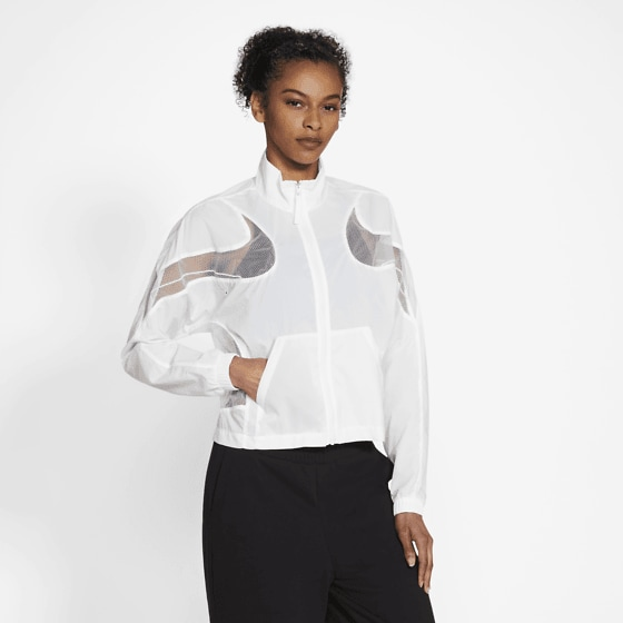 Nike W Nsw Jacket Wvn Amd Jackor WHITE/WHITE/BLACK