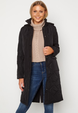 Happy Holly Isabelle Quilted Coat Black 36/38