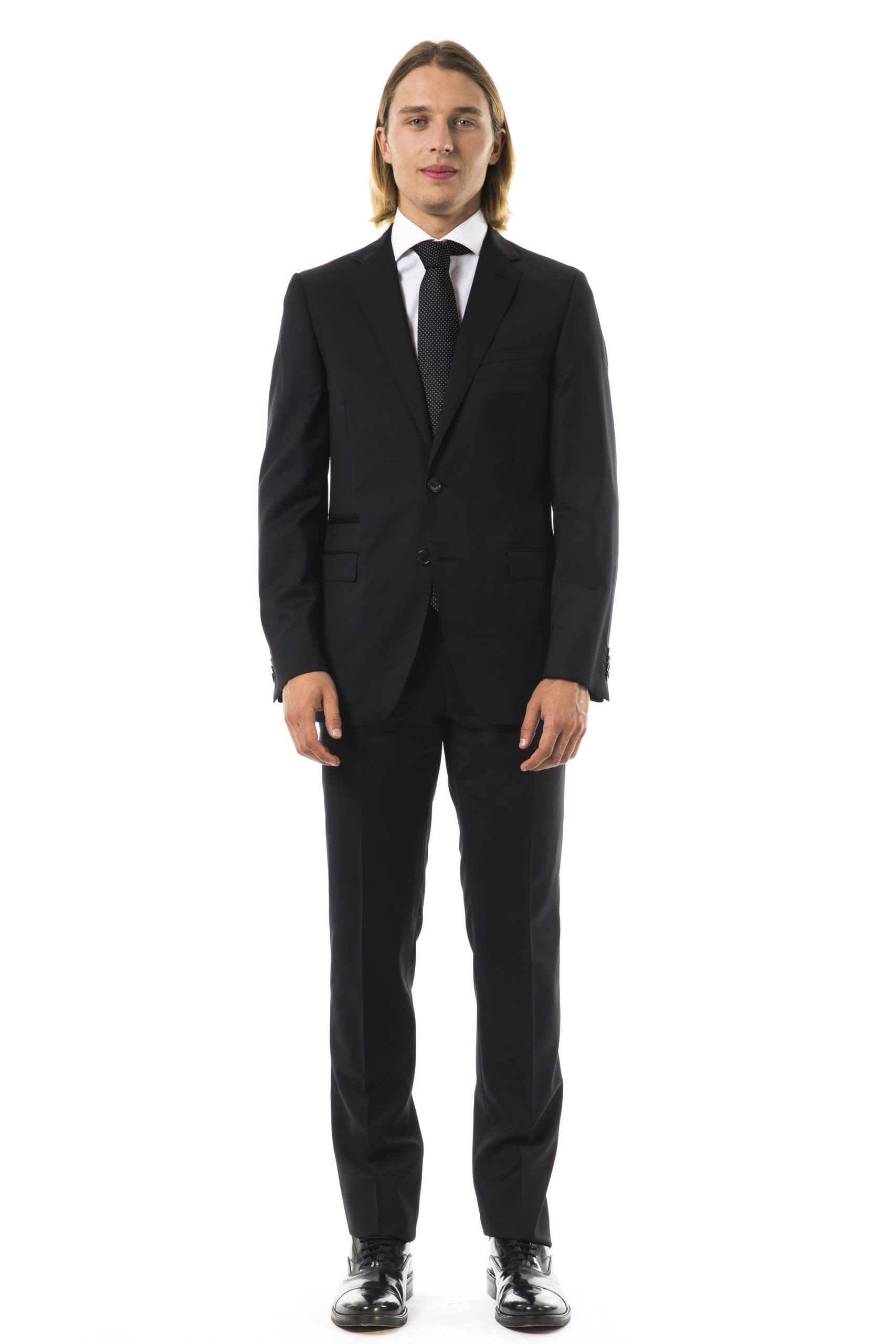 Uominitaliani Men's U Suit Black UO997334 - IT50   L
