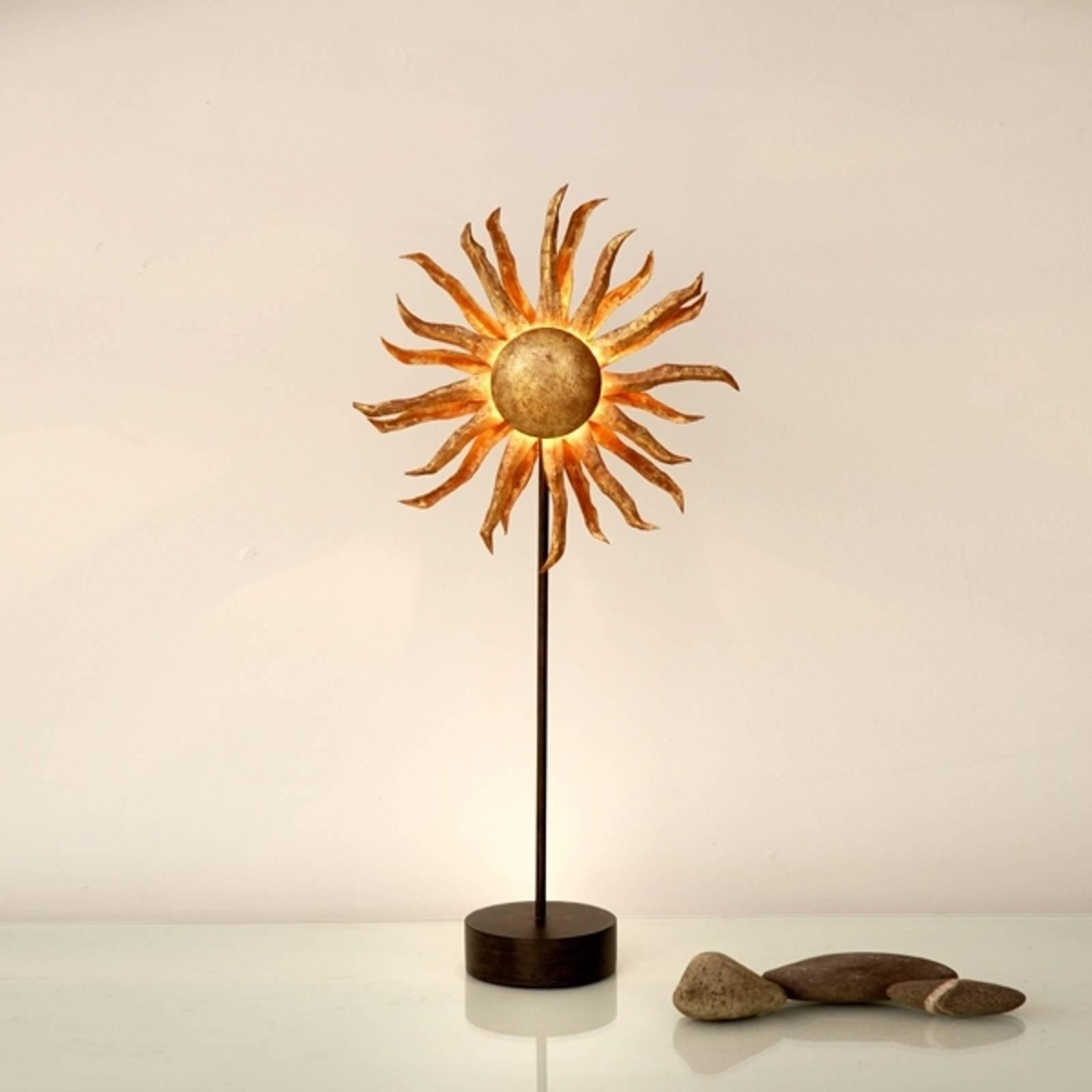 Gyllen LED-bordlampe Sol