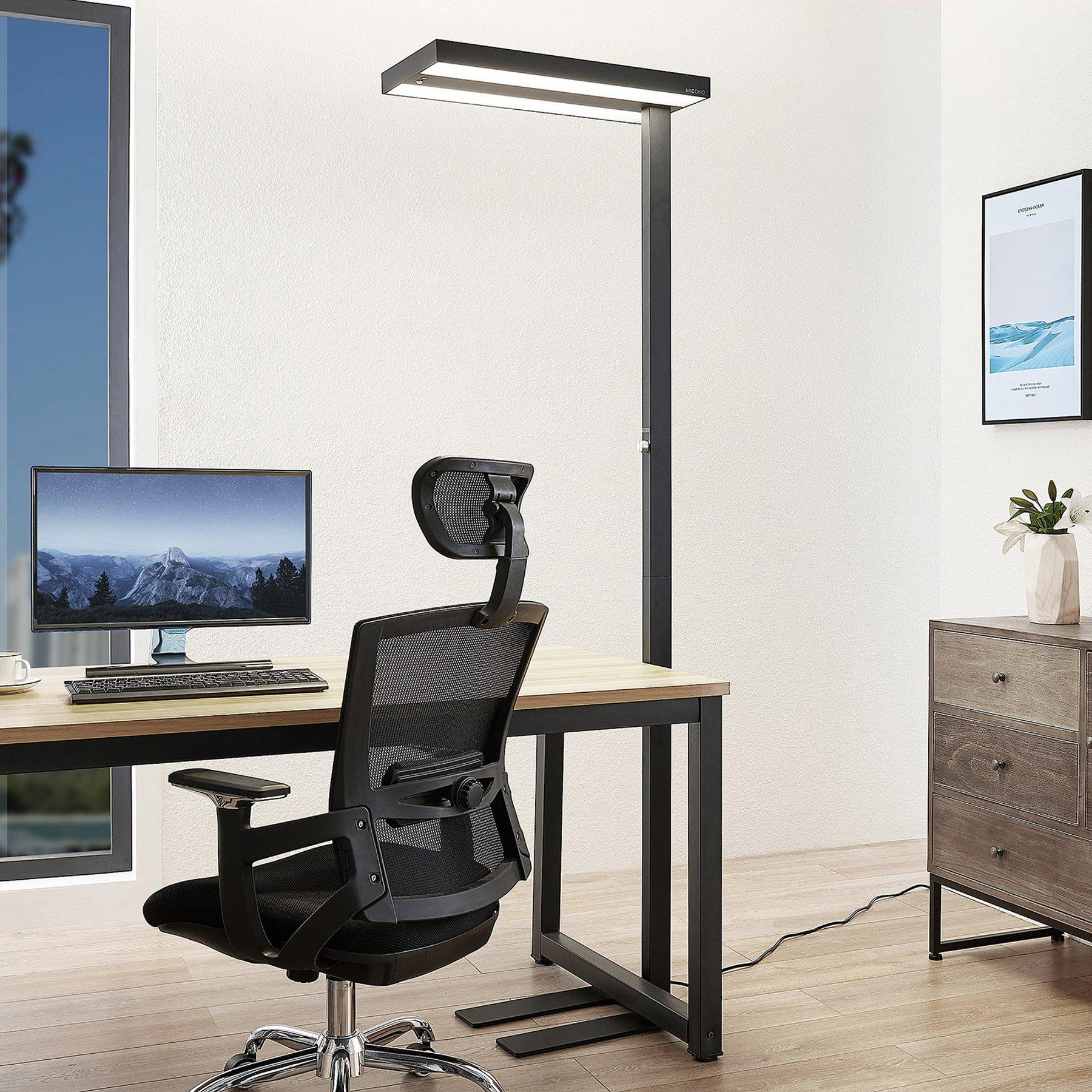 Arcchio Nelvana LED-gulvlampe, sensor, svart