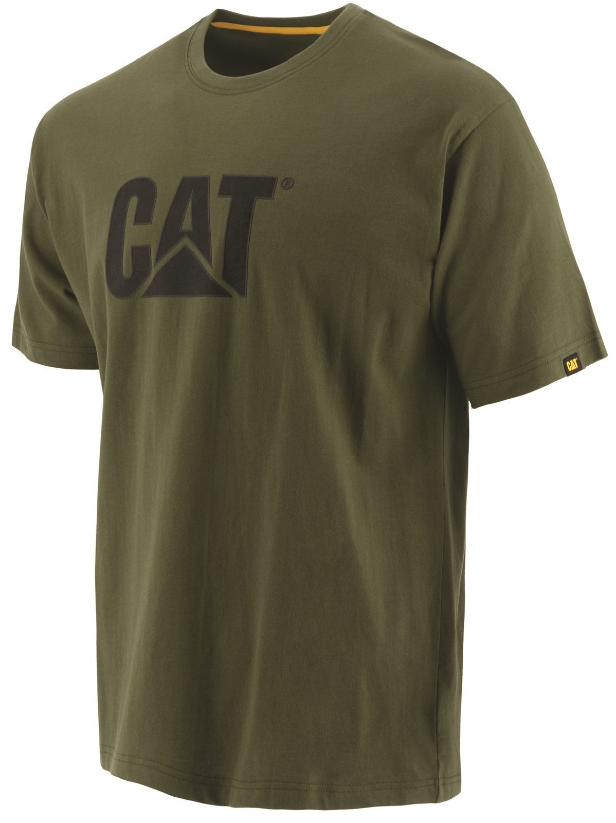 Caterpillar Unisex Trademark Logo T-Shirt Various Colours 25301 - Chive Sml