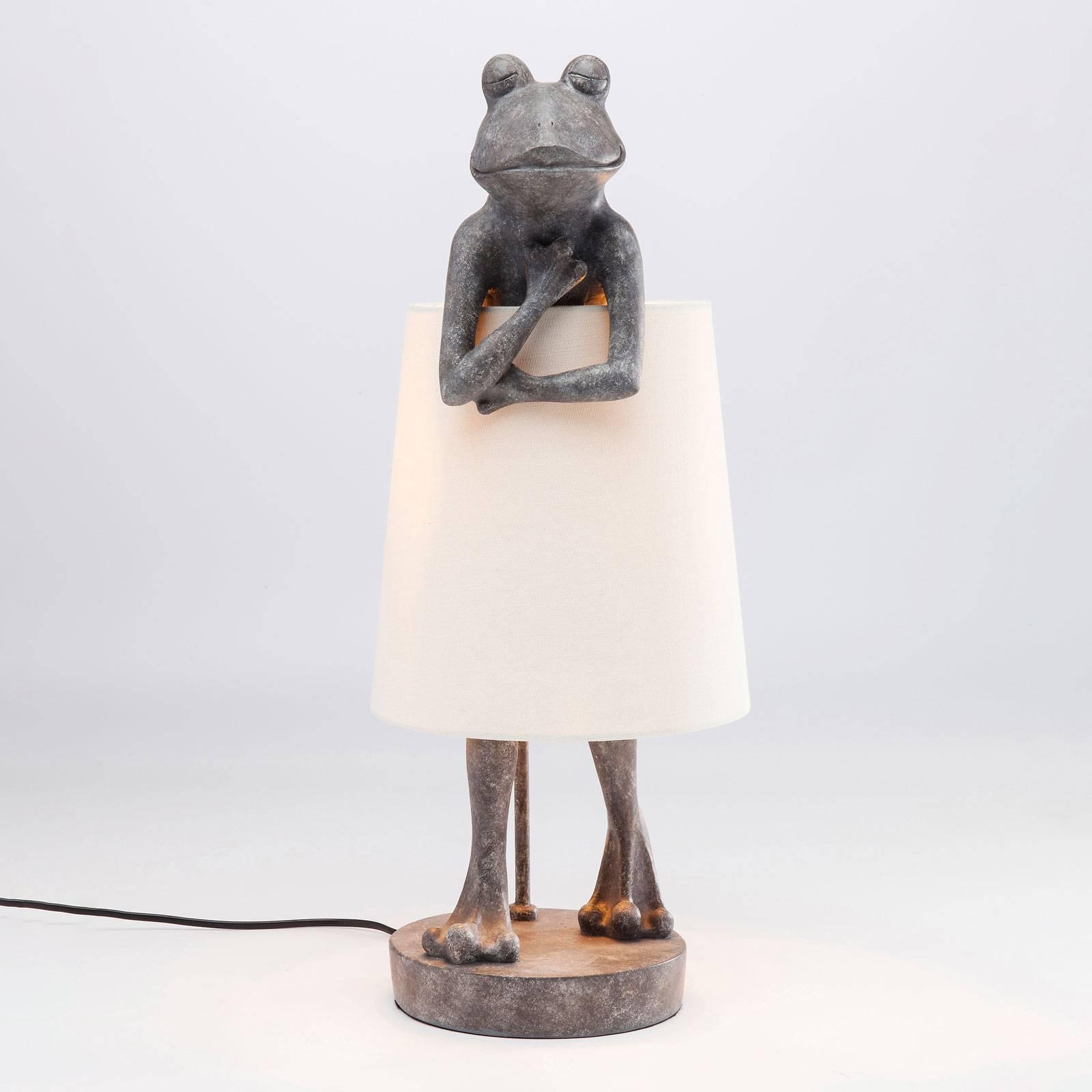 KARE Animal Frog -pöytävalaisin harmaa