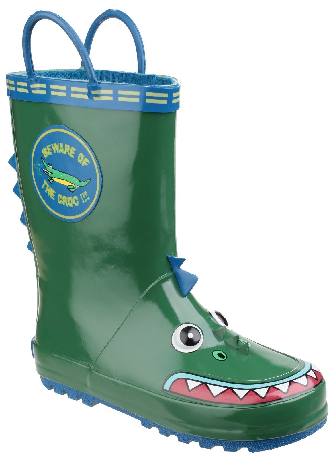 Cotswold Kids Puddle Waterproof Pull On Boot Multicolor 20962 - Crocodile 4.5