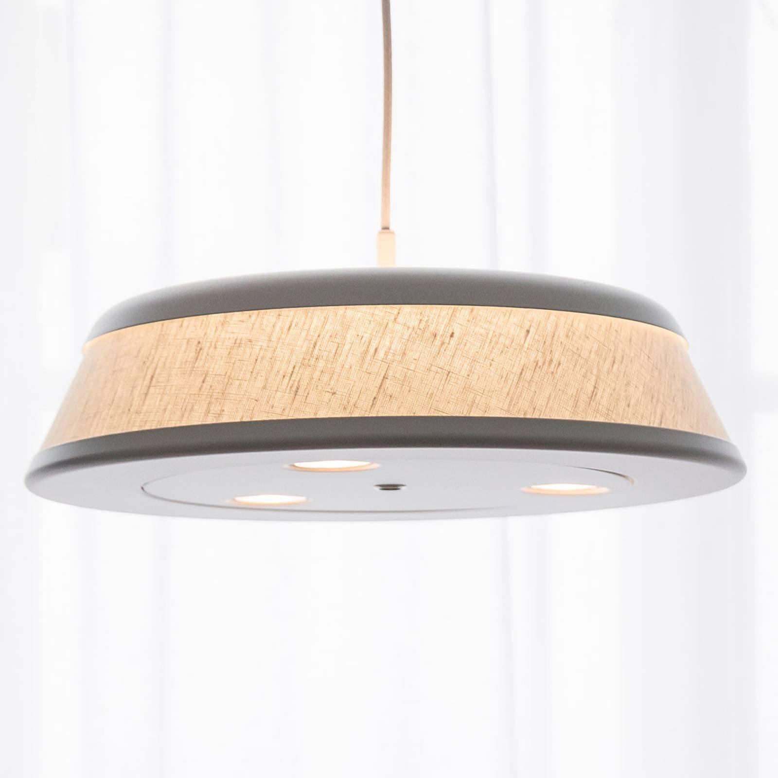 LED-hengelampe Vigo - Casambi, sølv/hvit