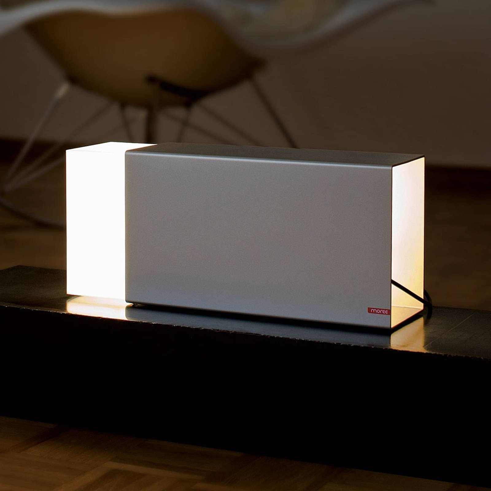 Bordlampe ERASER 380 sølv