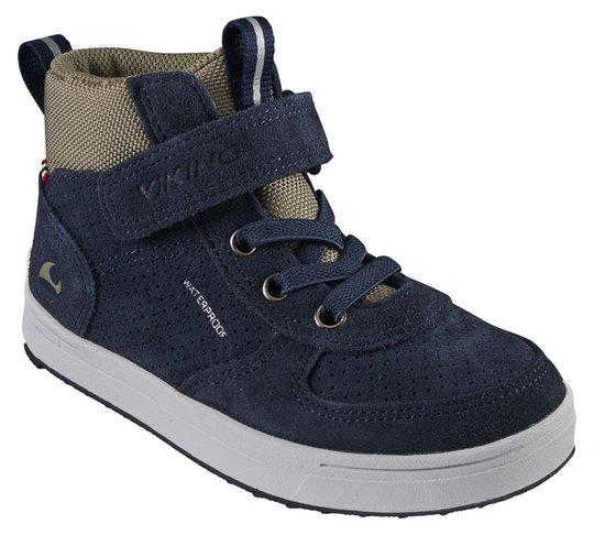 Viking Samuel Mid WP Sneaker, Navy/Olive, 23
