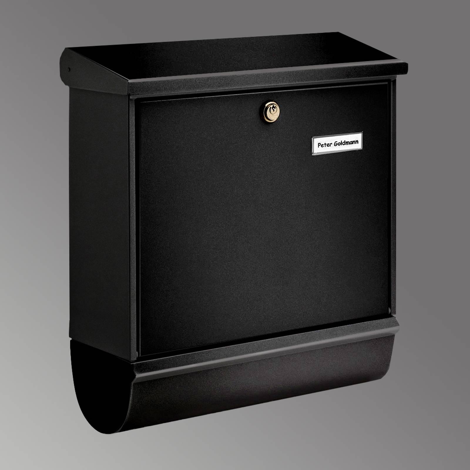 Comfort-set -postilaatikko lehtirullalla, musta