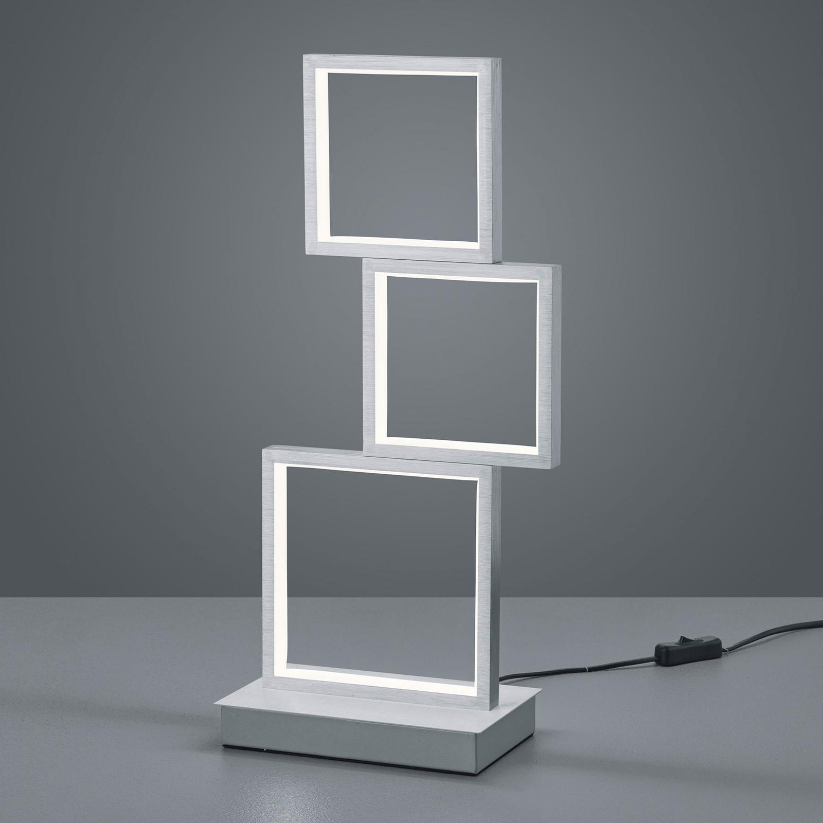 LED-pöytävalaisin Sorrento, harjattu alumiini