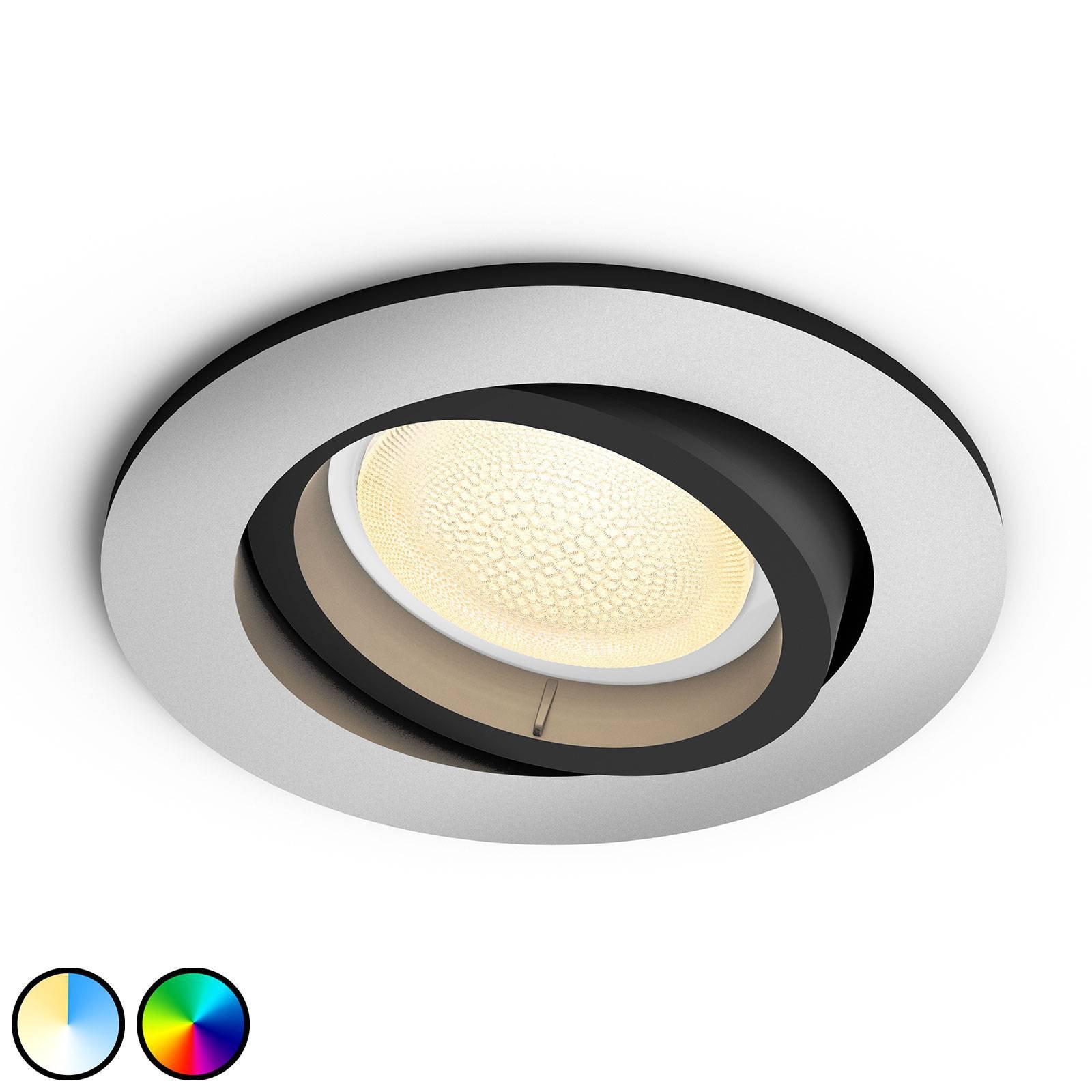 Philips Hue Centura LED-downlight rund, aluminium