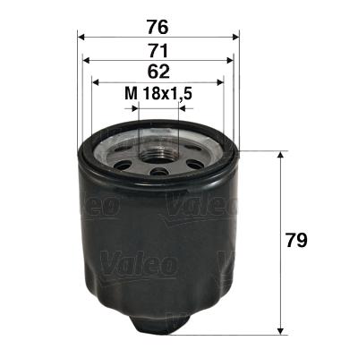 Öljynsuodatin VALEO 586072