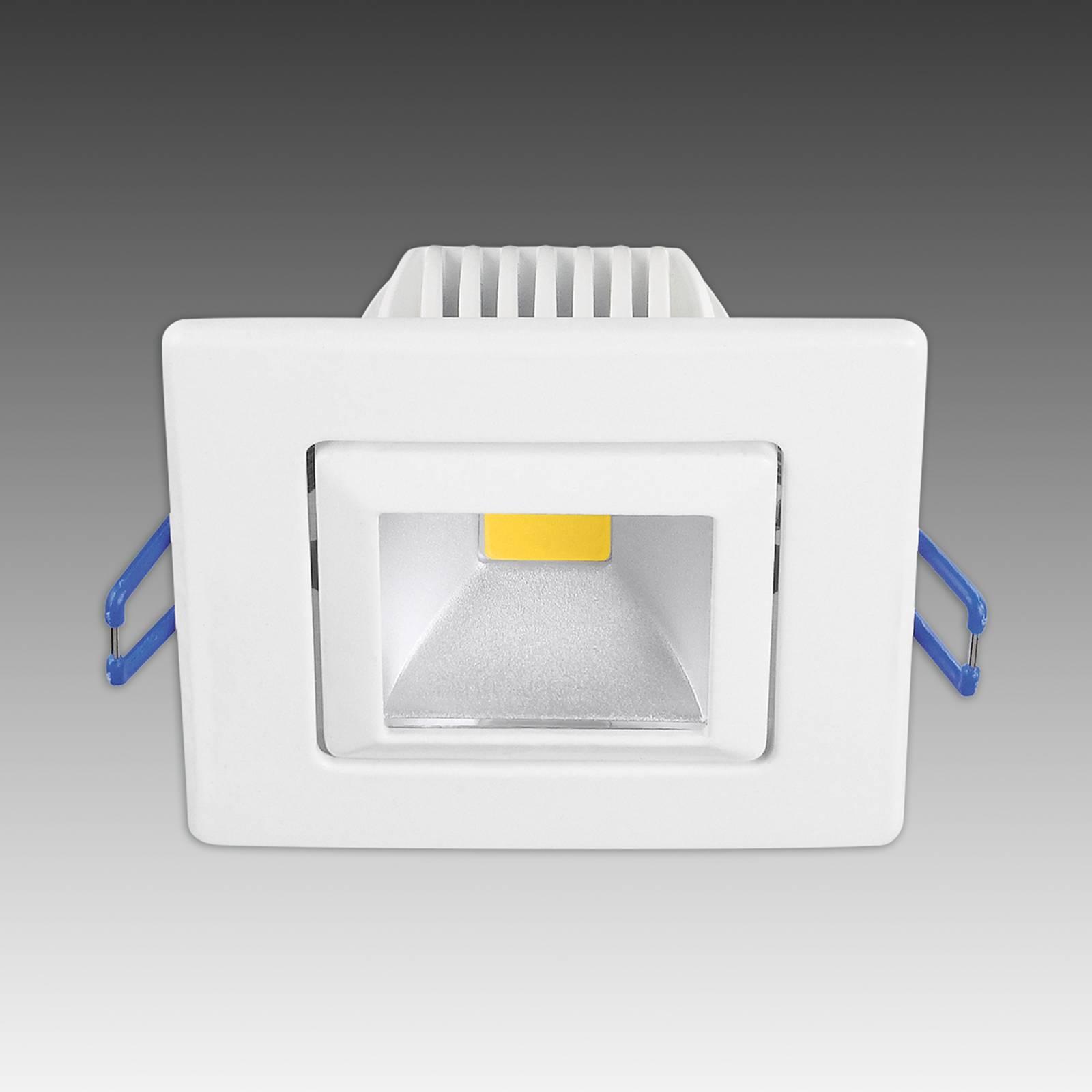 Moderni Pound-LED-uppospotti, valkoinen