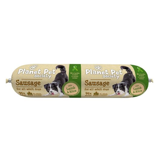 Planet Pet Society Sausage with Lamb & Rice 800 g