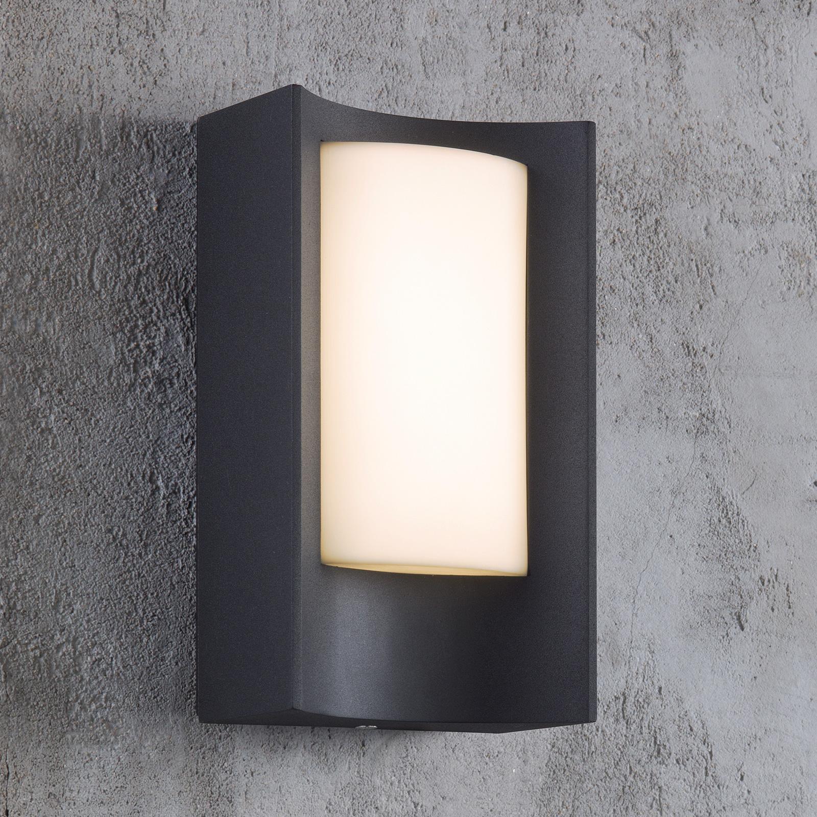 LED-ulkoseinälamppu Aspen, musta/valkoinen