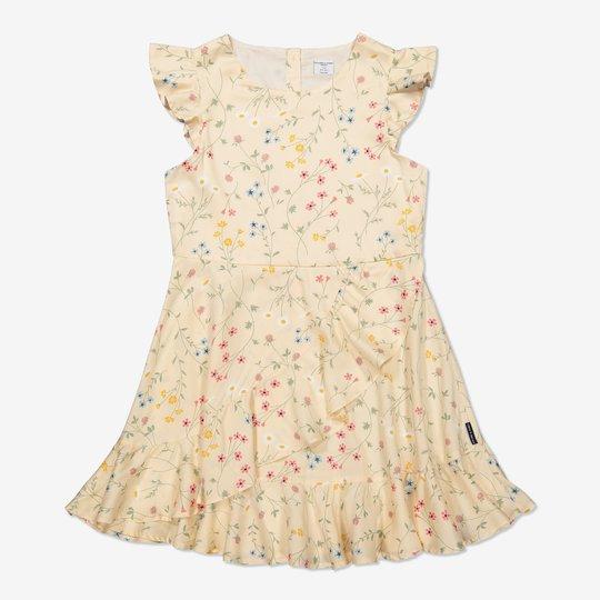 Kjole med engblomster off-white
