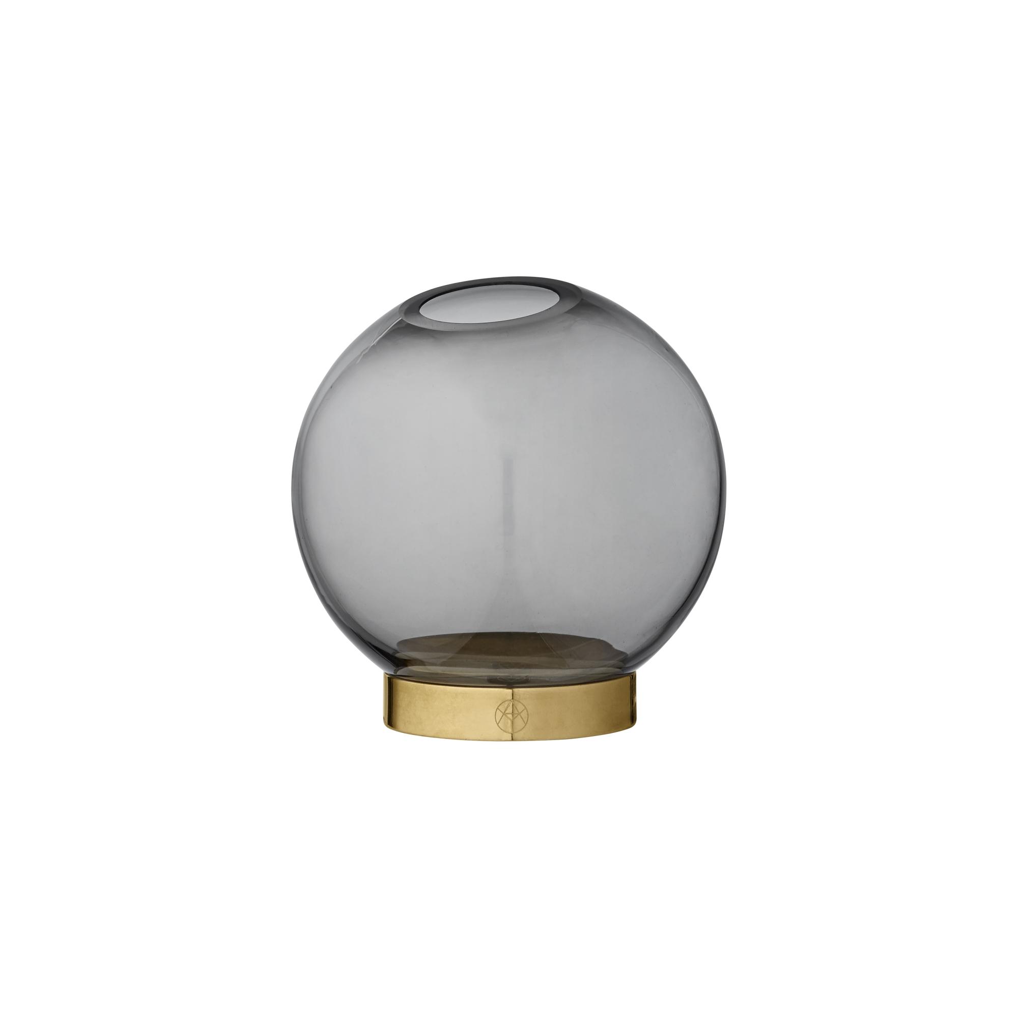Globe Vas Ø10cm Svart glas, AYTM