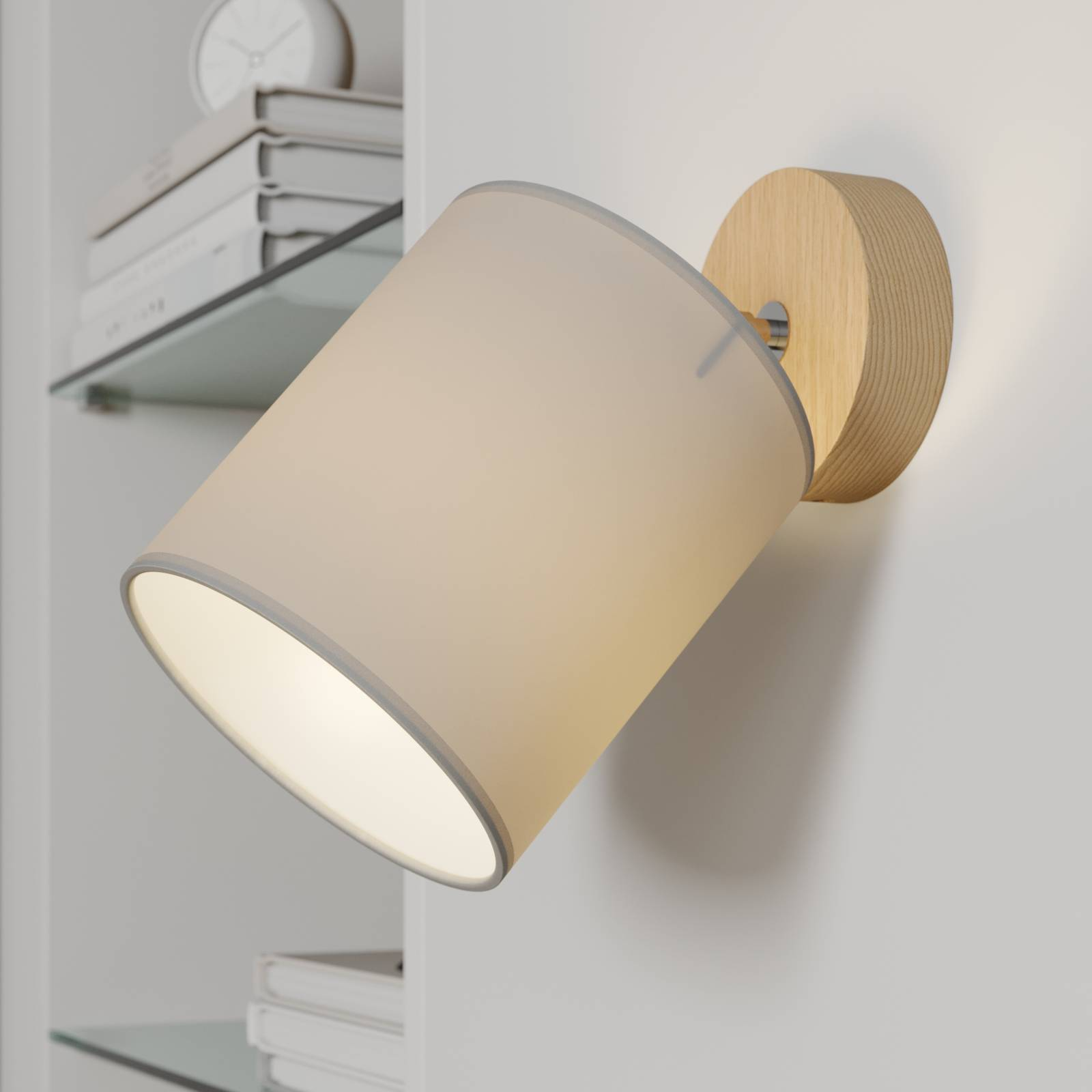 Seinäkohdevalaisin Corralee, harmaa, 1-lamppuinen