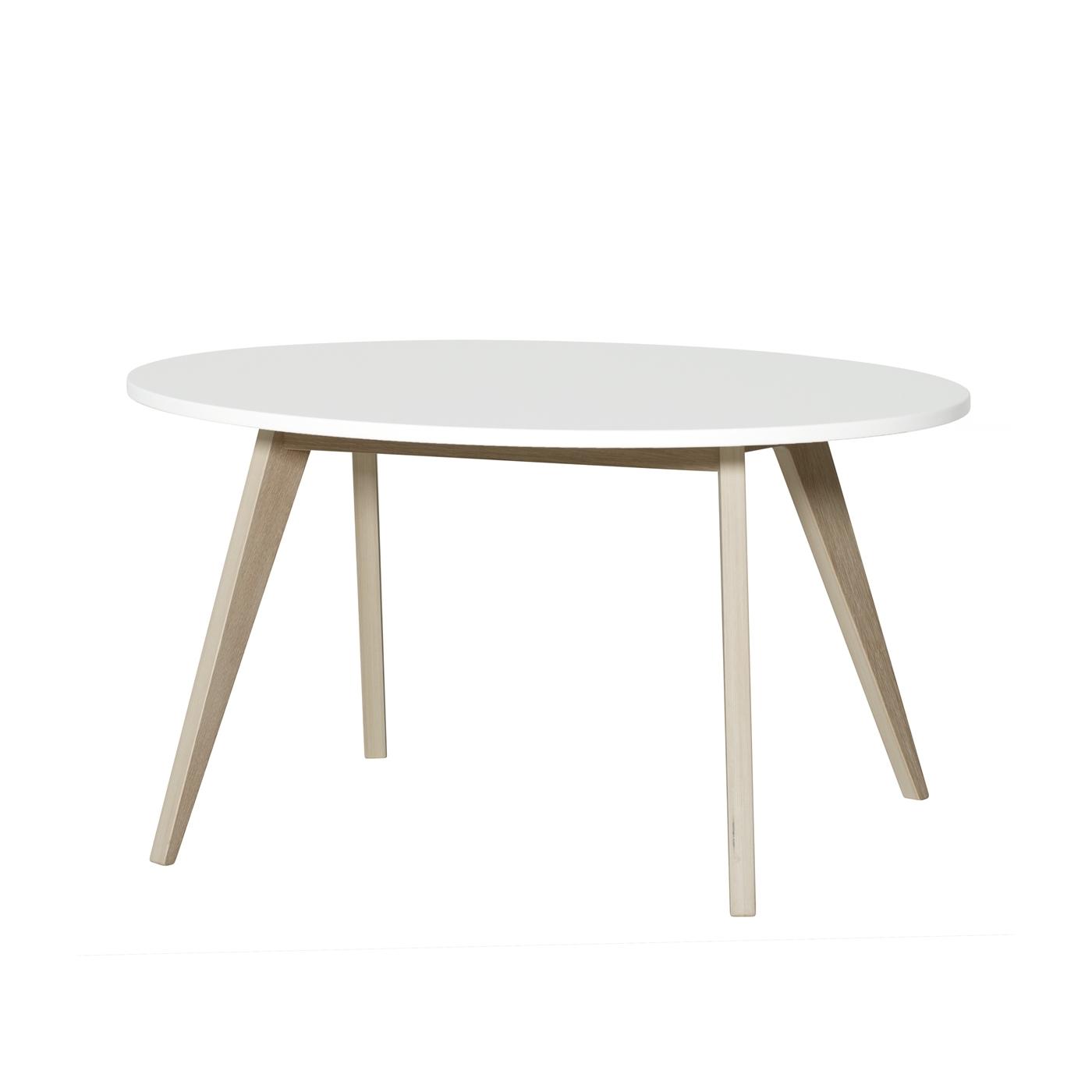 Barnbord PingPong Wood vit/ ek, Oliver Furniture