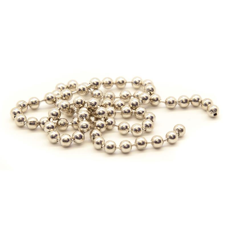 Bead Chain Eyes silver L Silver
