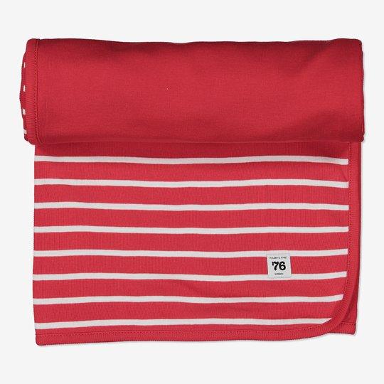 Teppe stripet rød