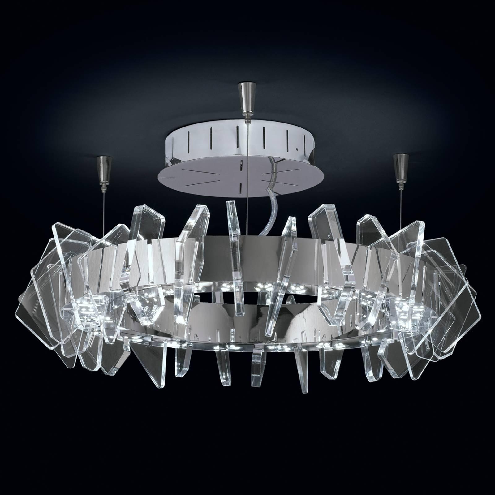 EOS ringformet LED-taklampe med glass