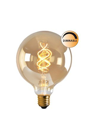 Lyspære LED Soft Filament Dimbar Gull 100 mm