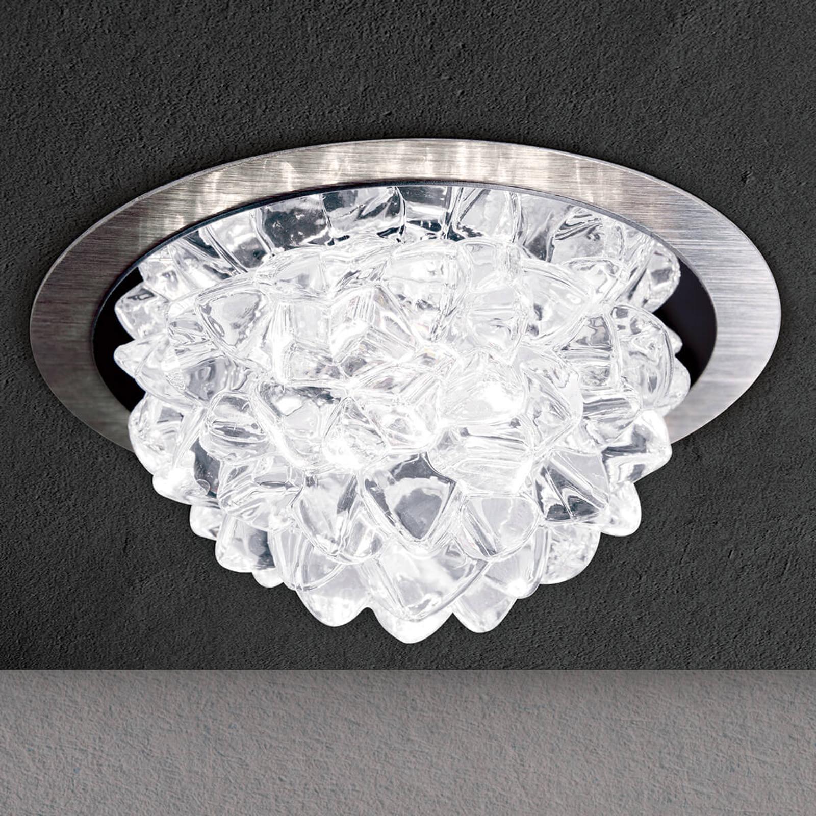 LED-uppovalaisin Cecil kristallivarjostimella, alu